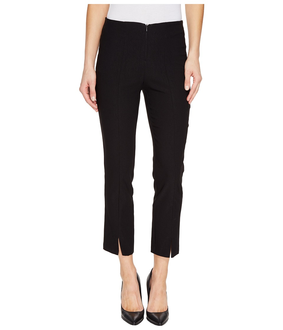 Tribal - Stretch Bengaline 25 Zip Front Capris (Black) Women's Casual Pants