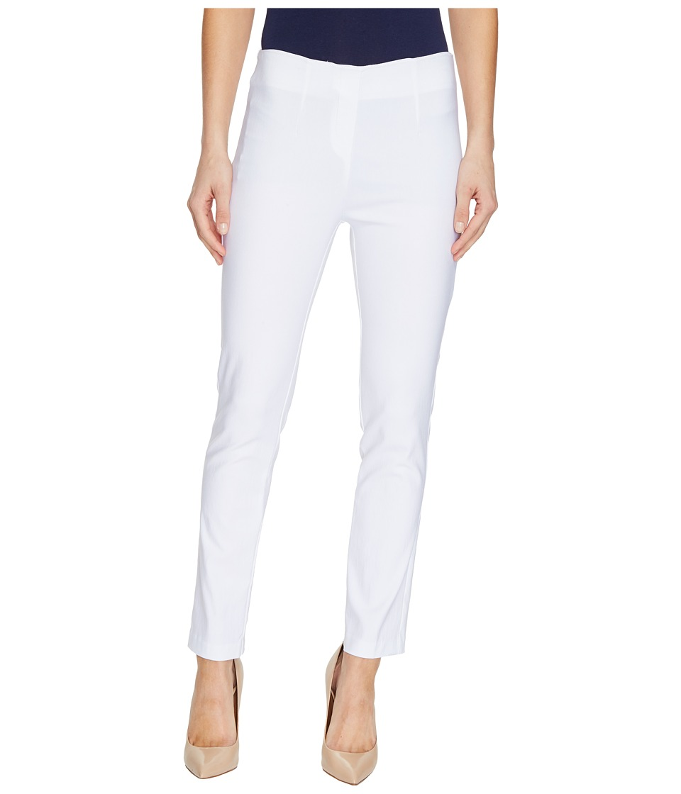 Tribal - Stretch Bengaline 28 Flat Front Ankle Pants (White) Women's Casual Pants