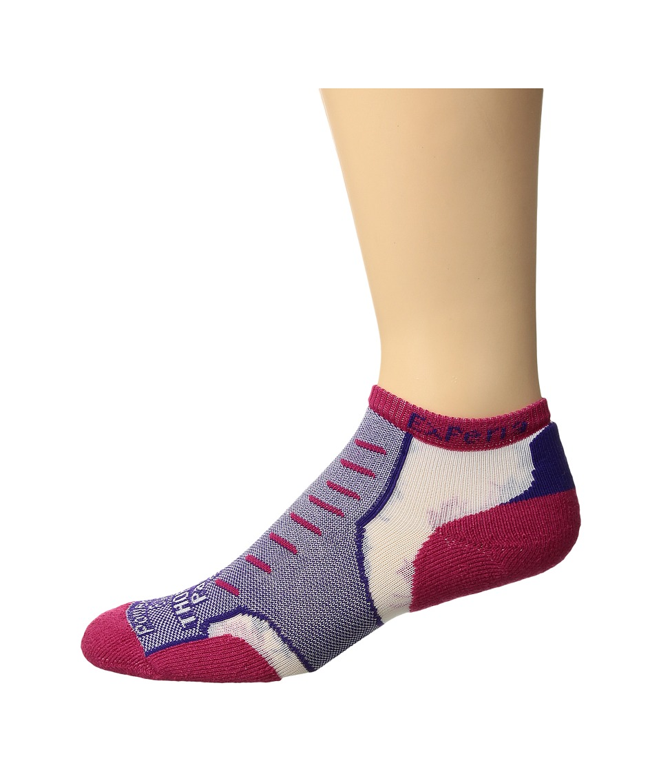 Thorlos - Experia No Show Single Pair (Magenta Vibe) No Show Socks Shoes