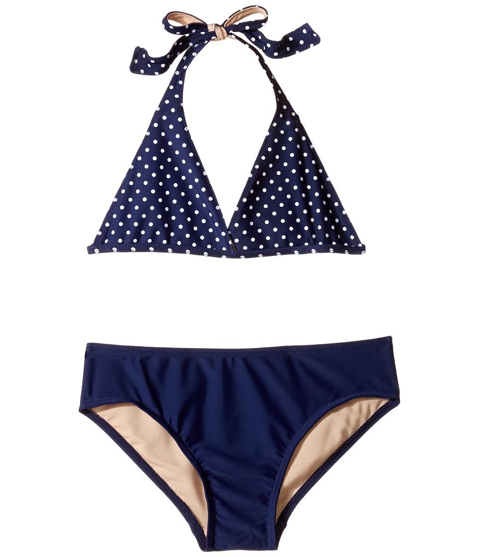 Toobydoo Navy and White Dot Bikini (Infant/Toddler/Little Kids/Big Kids) (Navy/White) Girl
