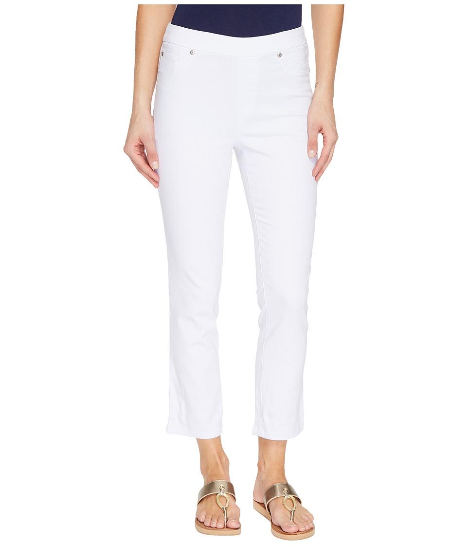 Tribal Pull-On 25 Dream Jeans Capris in White (White) Women
