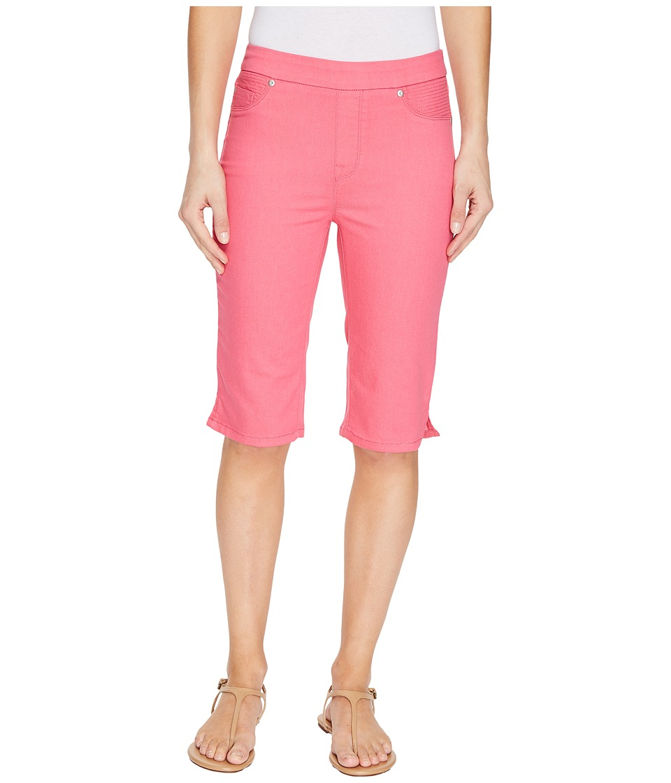 Tribal - Pull-On 13 Bermuda Dream Short in Soft Touch Denim (Deep Rose) Women's Shorts