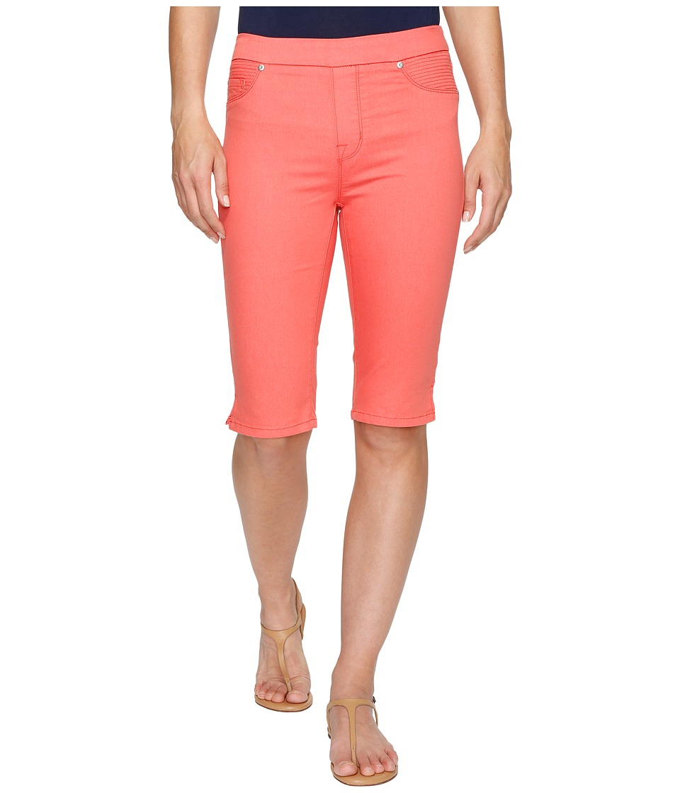 Tribal - Pull-On 13 Bermuda Dream Short in Soft Touch Denim (Coral Sky) Women's Shorts