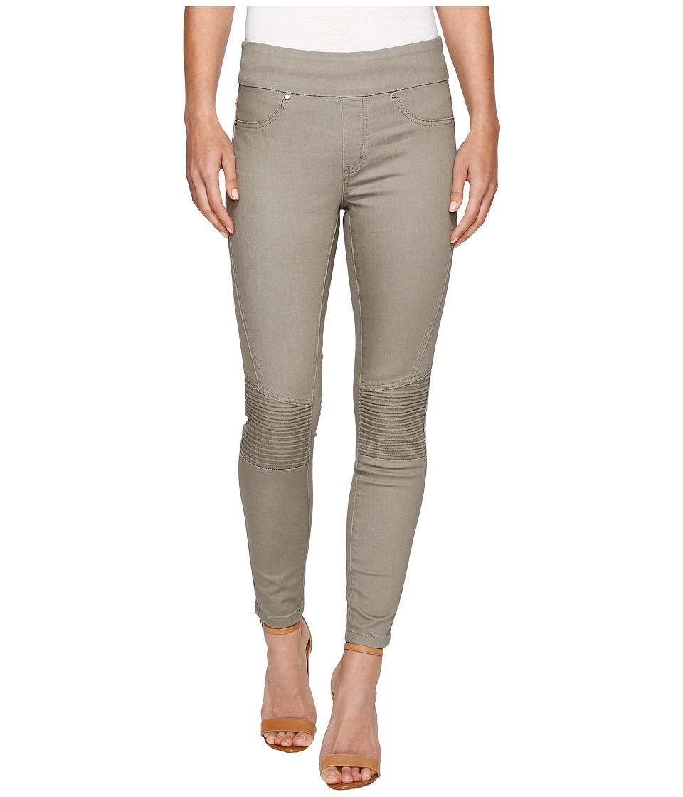 Tribal - Super Stretch Moto Detail Pull-On 28 Ankle Pants (Oak Moss) Women's Casual Pants