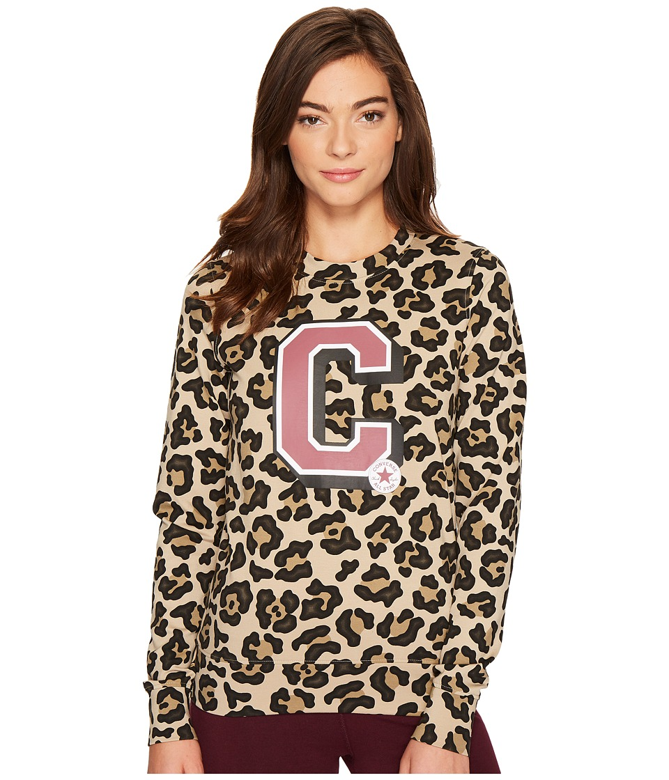 Converse - Animal AOP Crew Fleece (Multi) Women's Fleece