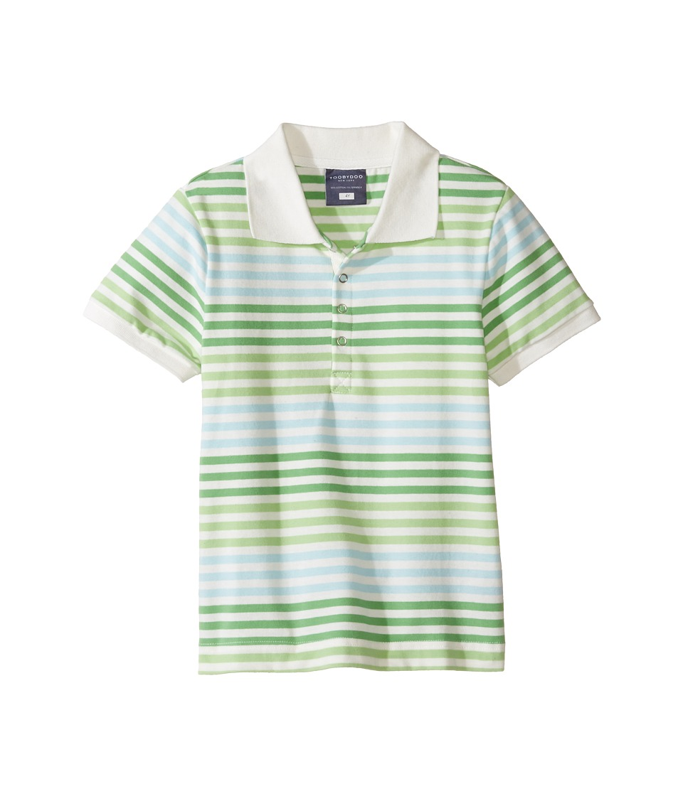 Toobydoo - Short Sleeve Polo (Infant/Toddler/Little Kids/Big Kids) (Green/White) Boy's Short Sleeve Knit