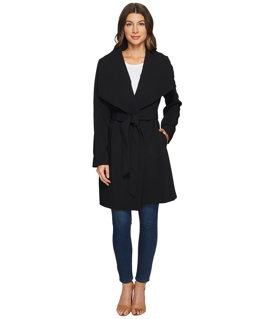 LAUREN Ralph Lauren - Drape Front Belted Wrap (Black) Women's Clothing
