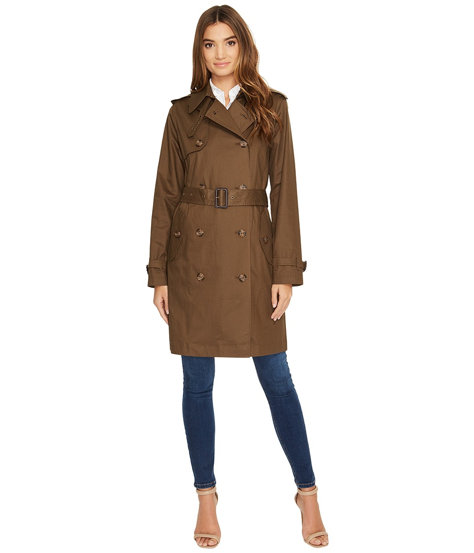LAUREN Ralph Lauren - Double-Breasted Trench (Summer Loden) Women's Coat
