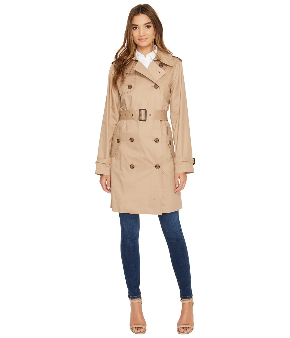 LAUREN Ralph Lauren - Double-Breasted Trench (Sand) Women's Coat