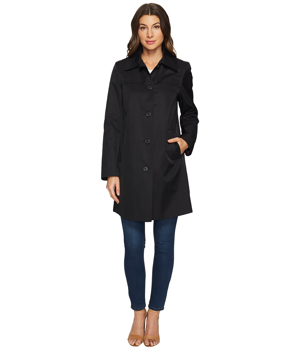 LAUREN Ralph Lauren - Single-Breasted Shirt Collar w/ Front Shields (Black) Women's Coat