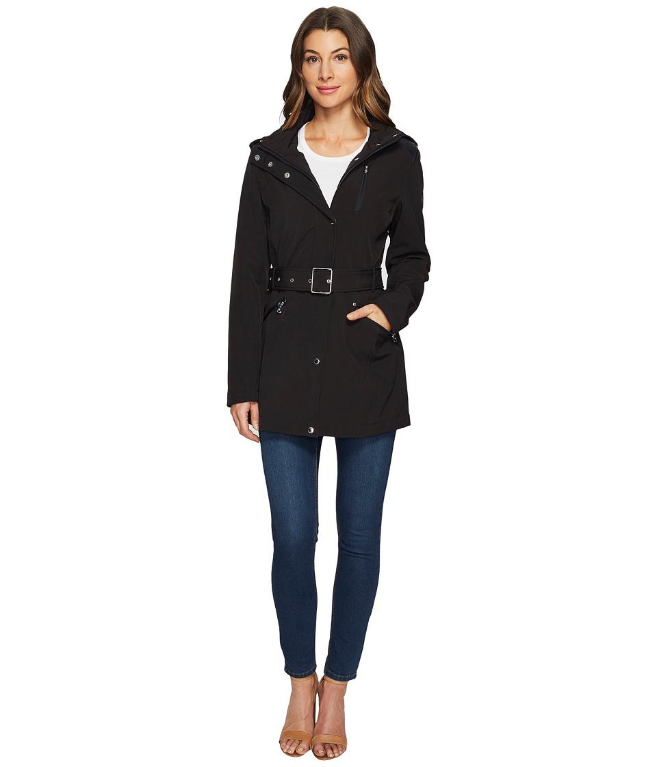 LAUREN Ralph Lauren - Softshell Trench (Black) Women's Coat