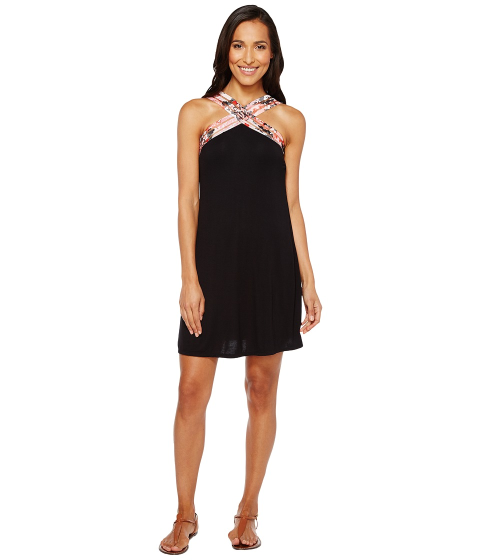Kenneth Cole - Sweet Sakura High Neck Dress Cover-Up (Black) Women's Swimwear