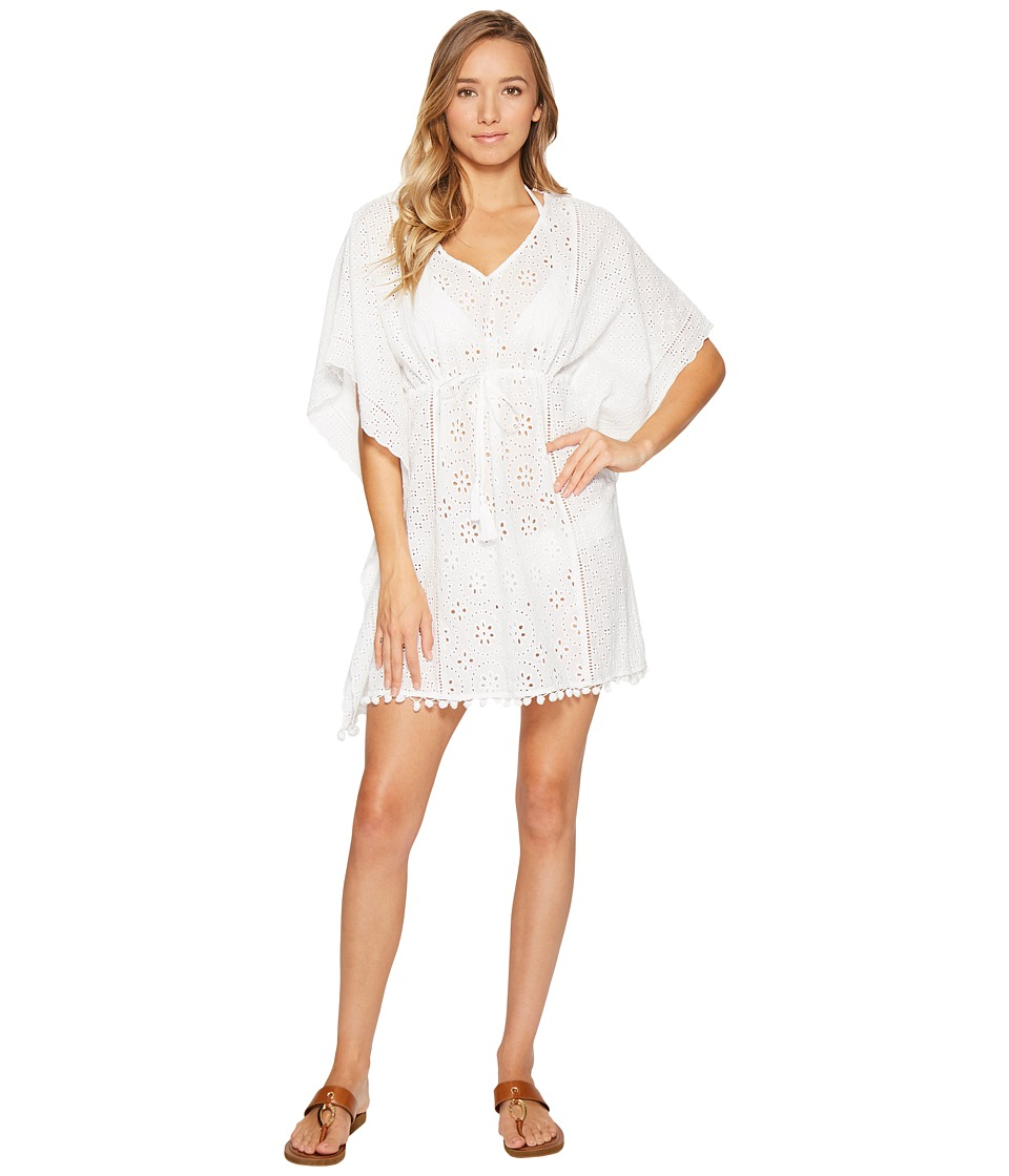 Tommy Bahama - Eyelet Tunic Cover-Up (White) Women's Swimwear