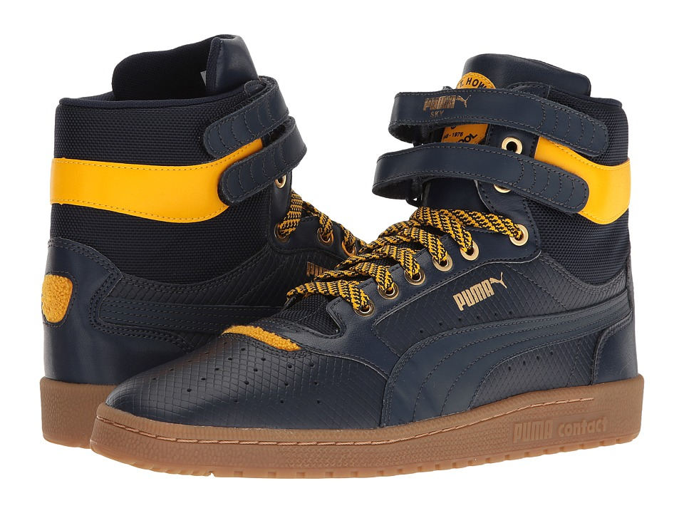 PUMA - Sky II Hi BHM Ram (Puma New Navy/Spectra Yellow) Men's Shoes