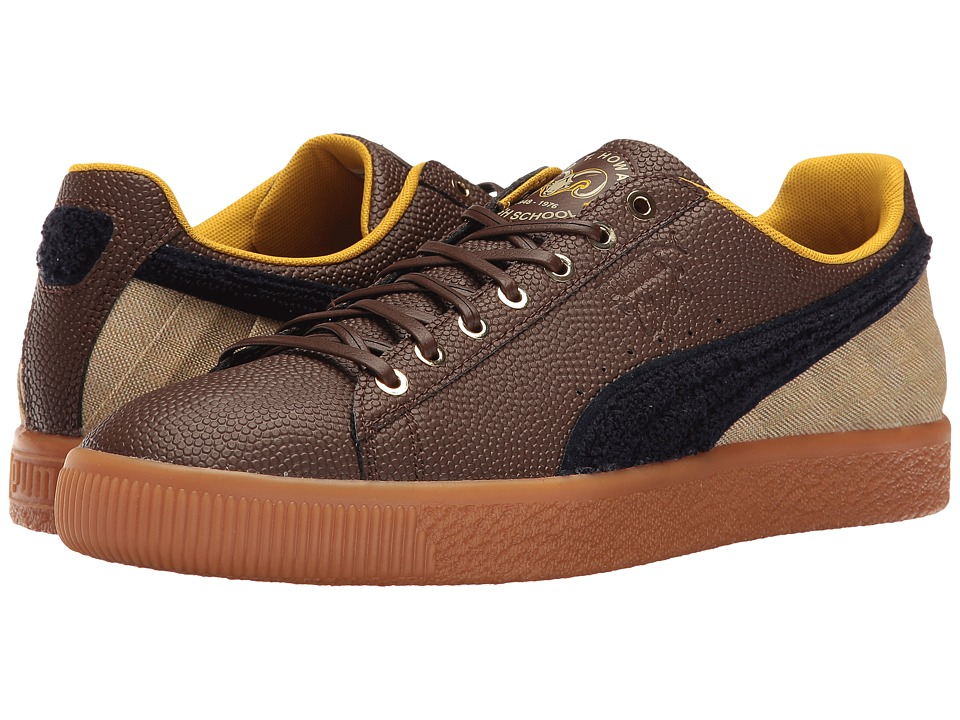 PUMA Clyde BBall BHM (Chestnut/Pale Khaki/Puma New Navy) Men