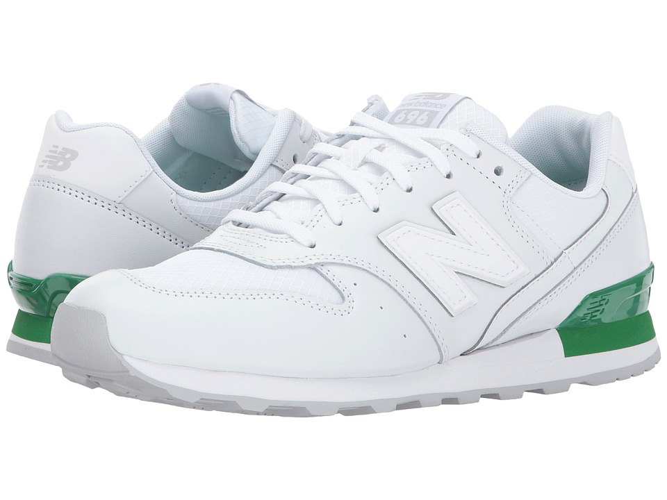 New Balance Classics - WL696 (White/Varsity Green) Women's Classic Shoes