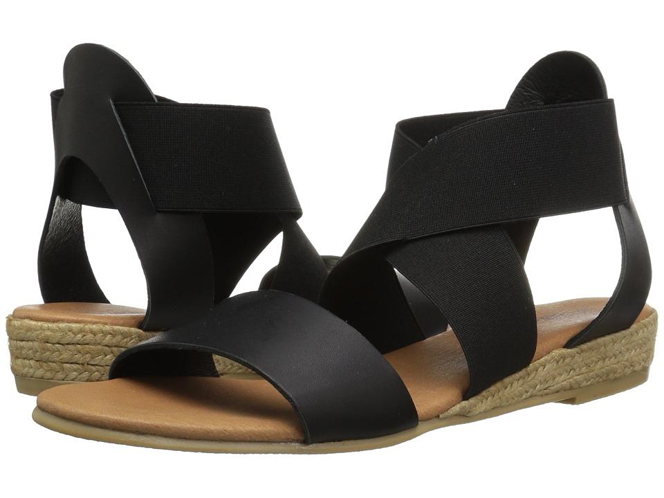 Andre Assous - Malta (Black/Black Nappa/Elastic) Women's Sandals