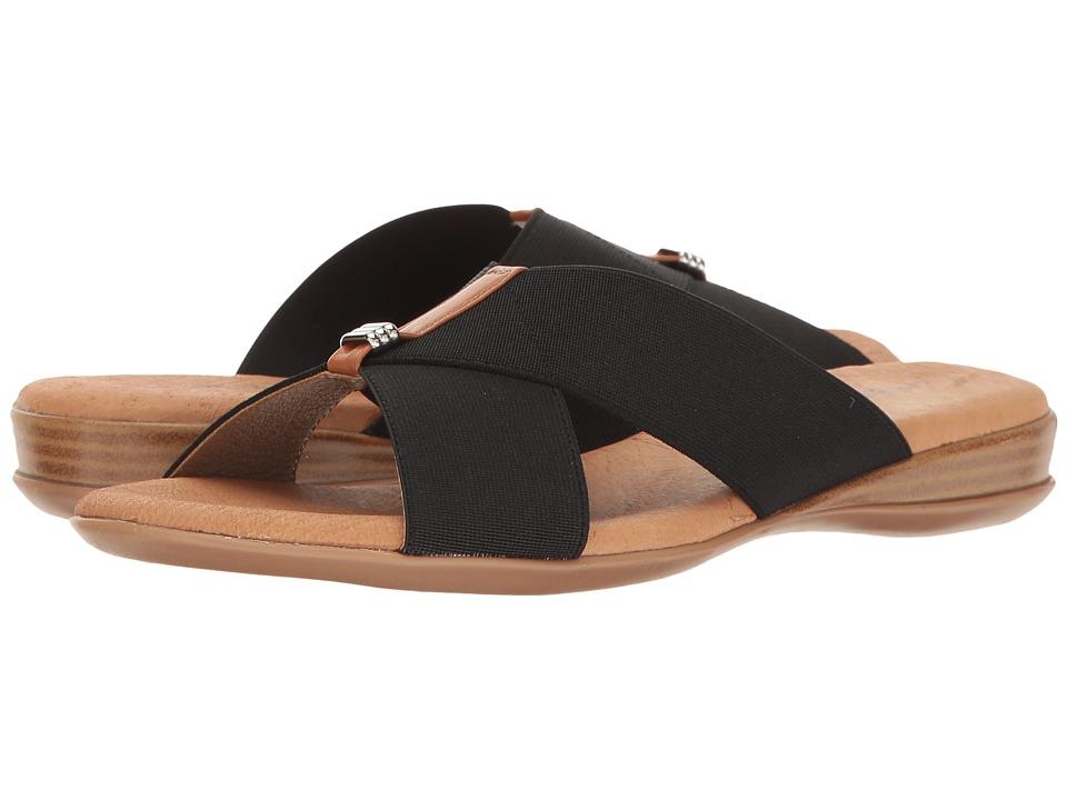 Andre Assous - Nani (Black Elastic) Women's Sandals