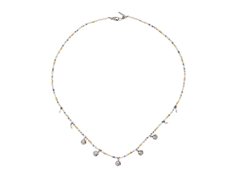 Chan Luu - 17 Beaded Coin Necklace (Cream Mix) Necklace