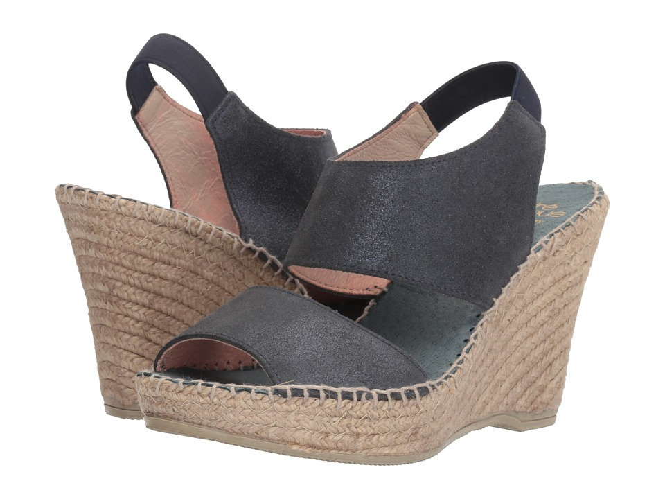 Andre Assous Reese (Navy Metallic Brushed Suede) Women