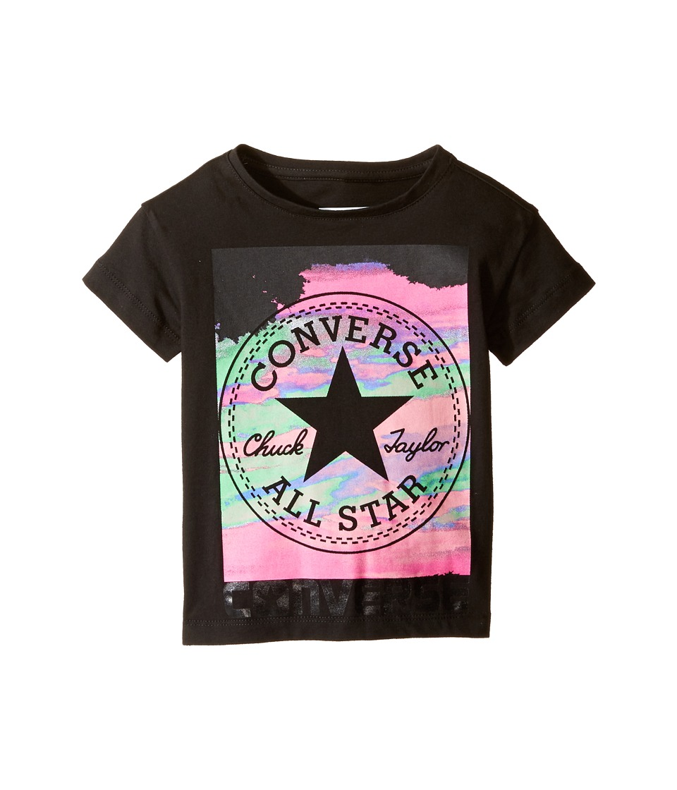 Converse Kids - In the Clouds Tee (Toddler/Little Kids) (Black) Girl's T Shirt