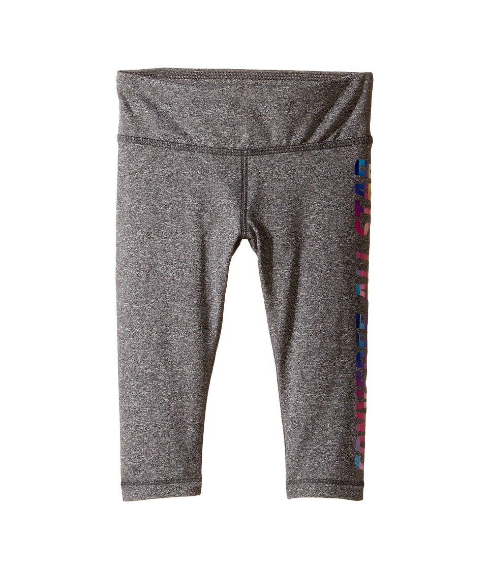Converse Kids - All Star Capri Leggings (Toddler/Little Kids) (Charcoal Heather) Girl's Casual Pants