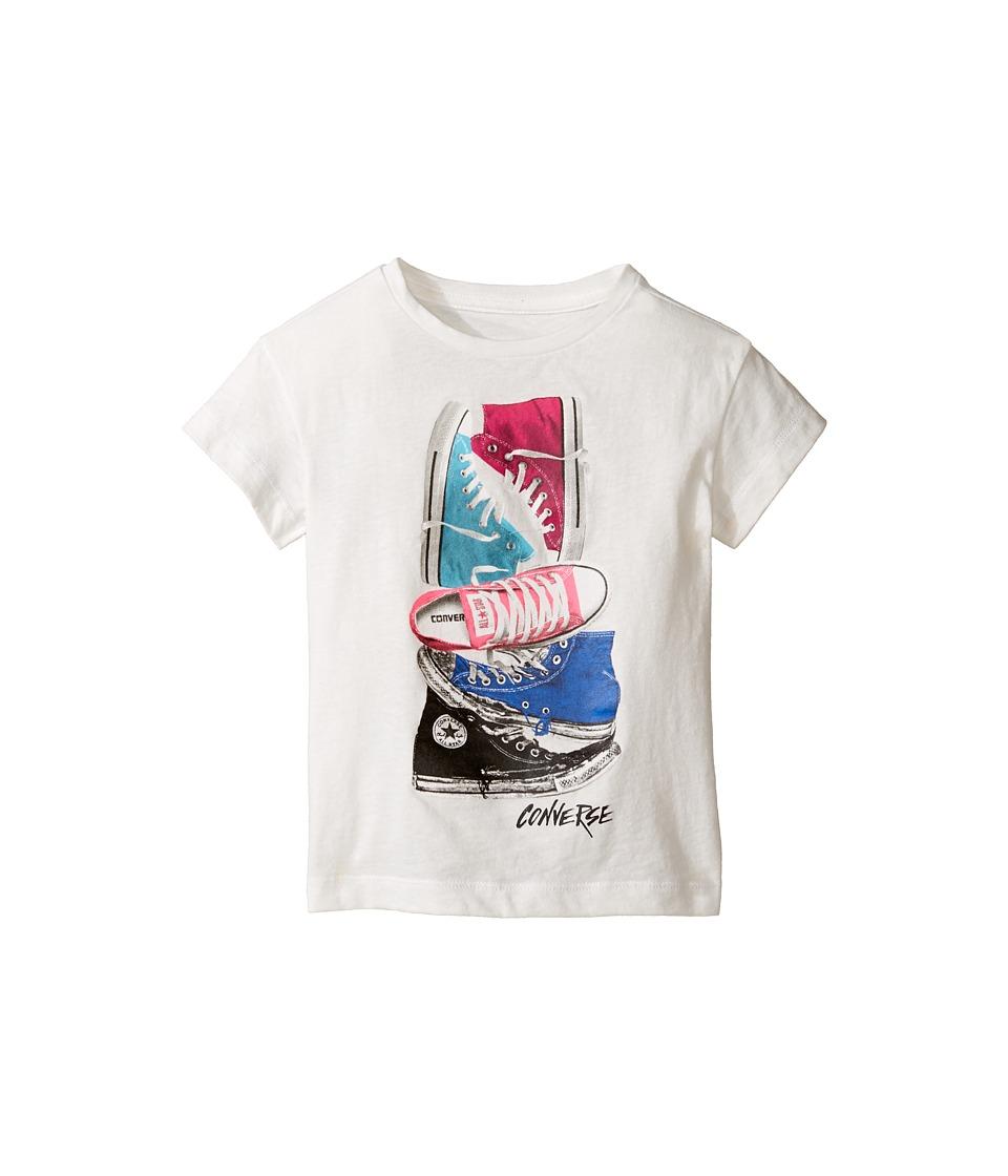 Converse Kids - Stackerd Chuck II Tee (Toddler/Little Kids) (White Snow Yarn) Girl's T Shirt