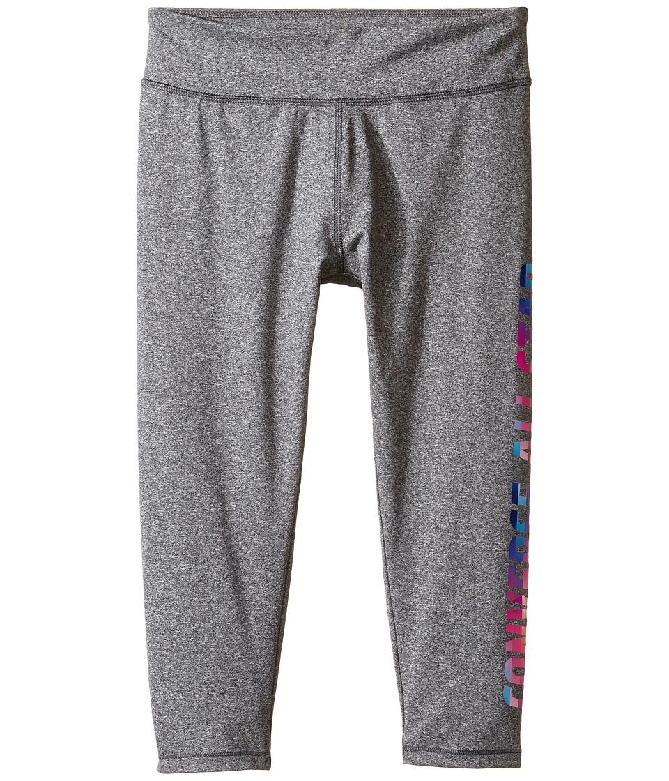 Converse Kids - All Star Capri Leggings (Big Kids) (Charcoal Heather) Girl's Casual Pants