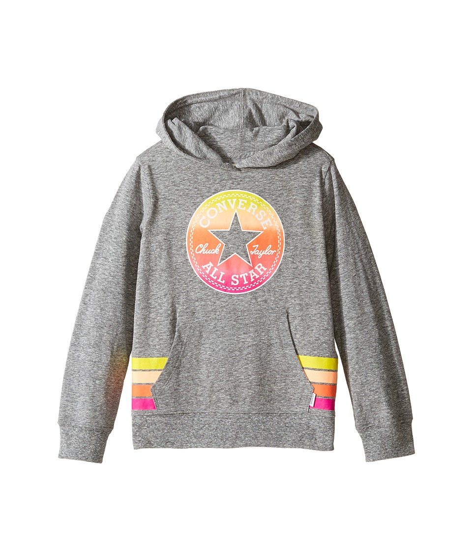 Converse Kids - Sunset Hoodie (Toddler/Little Kids) (Charcoal Snow Heather) Girl's Sweatshirt