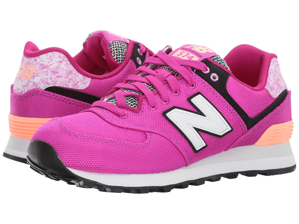 New Balance Classics - WL574 Art School (Poisonberry/Bleached Sunrise) Women's Shoes