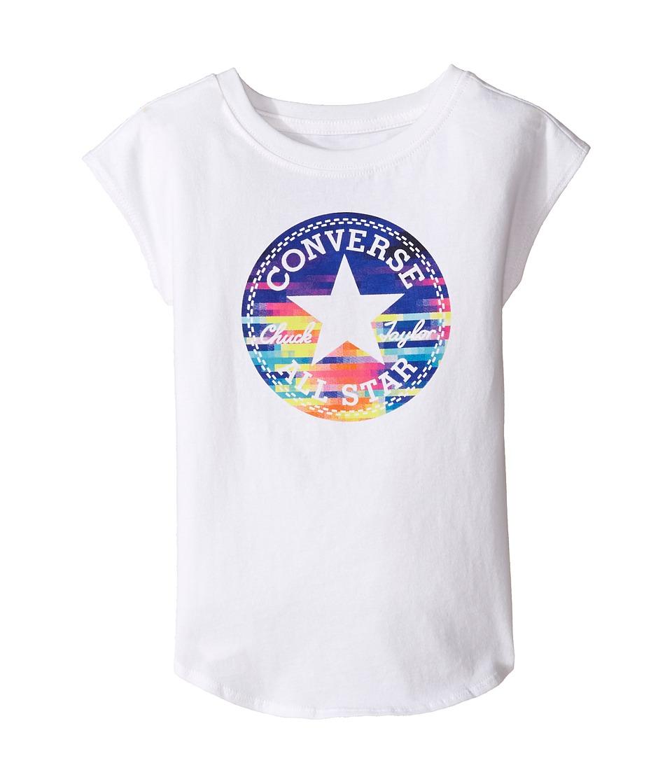 Converse Kids - Printed Chuck Patch Tee (Toddler/Little Kids) (White) Girl's T Shirt