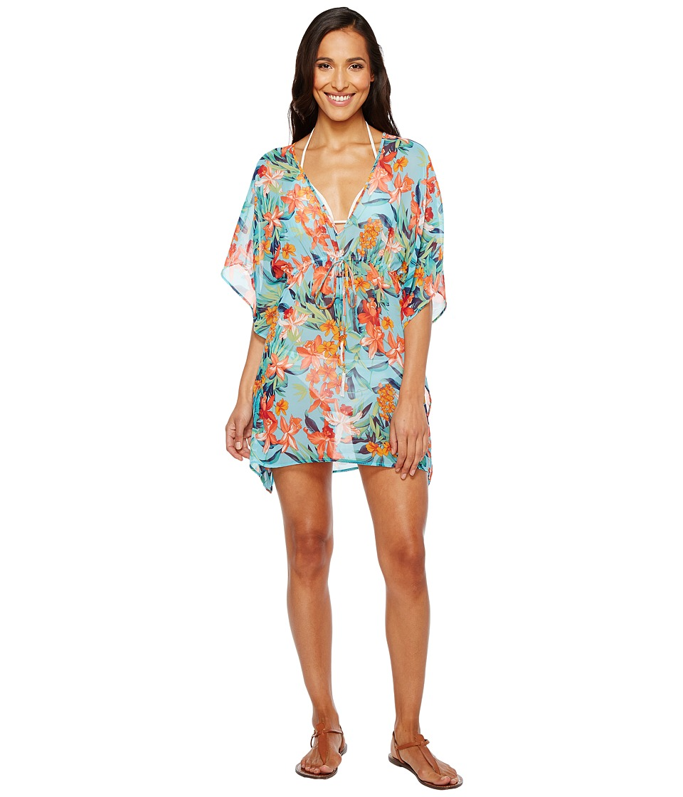 Tommy Bahama Floriana Tunic Cover-Up (True Turquoise) Women