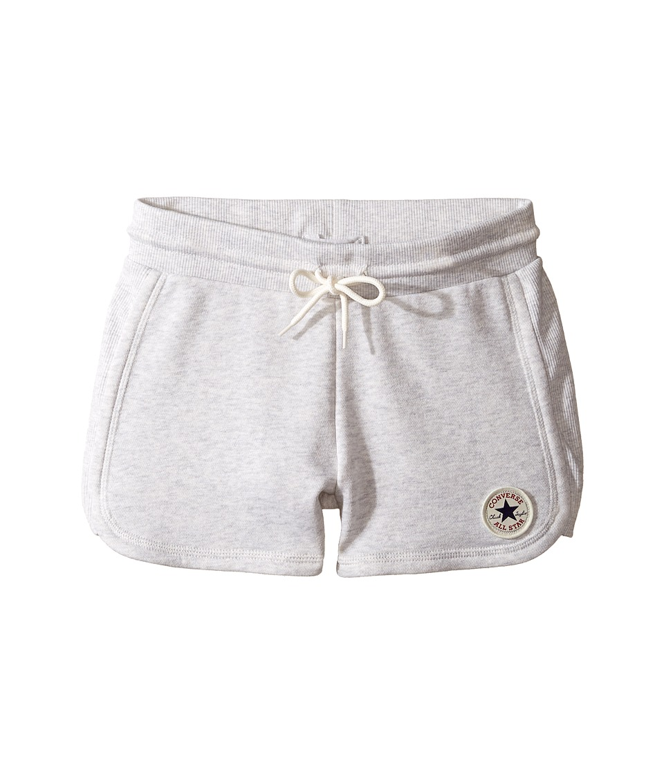 Converse Kids - CTP Rib Panel Shorts (Big Kids) (Lunar Rock Heather) Girl's Shorts