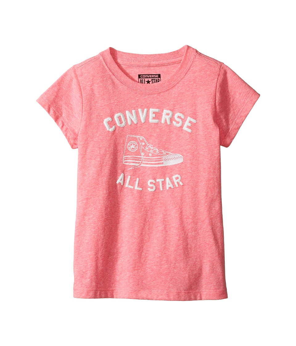 Converse Kids - Varsity All Star Tee (Toddler/Little Kids) (Neo Pink Snow Heather) Girl's T Shirt