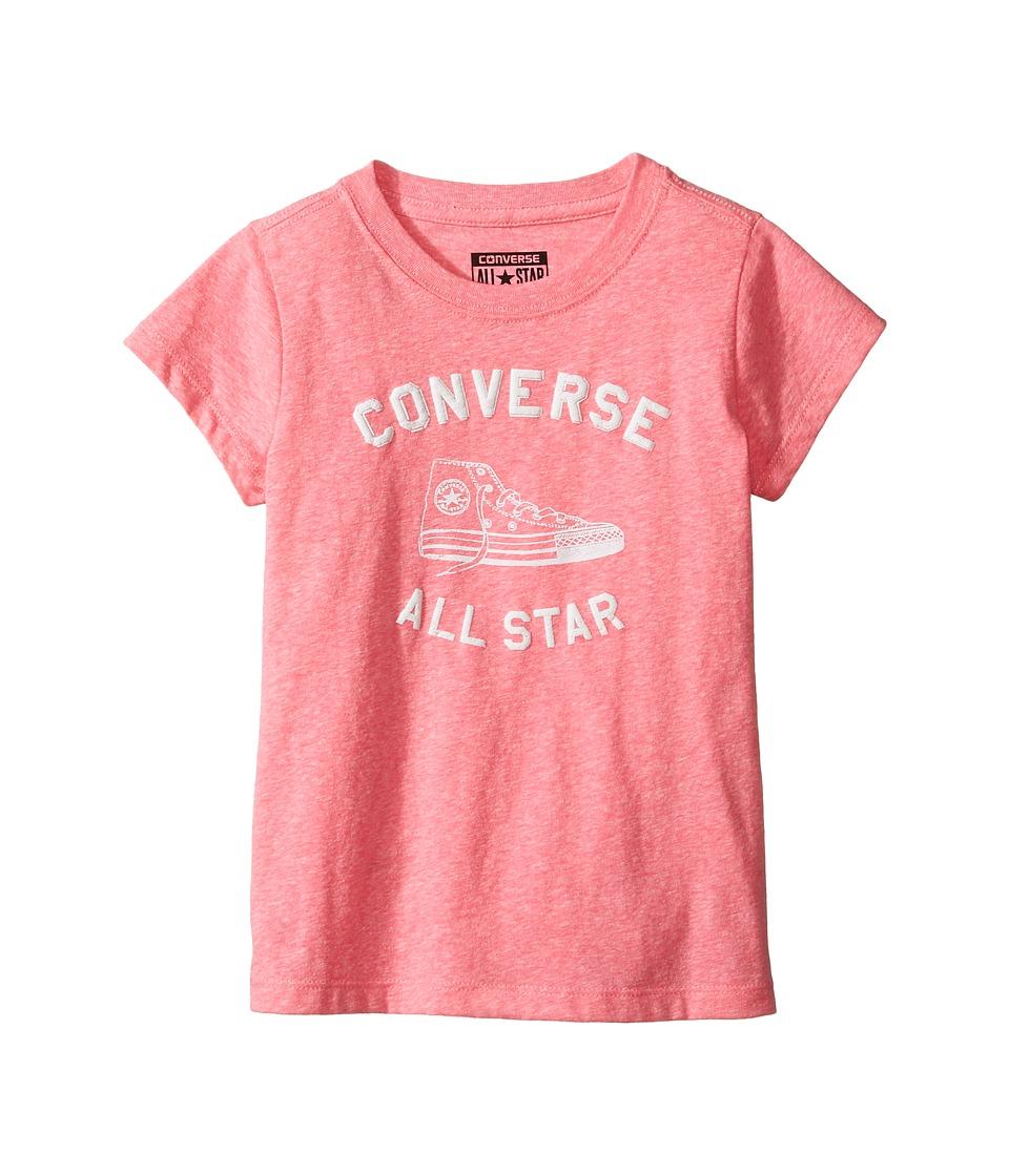 Converse Kids - Varsity All Star Tee (Toddler/Little Kids) (Neo Pink Snow Heather) Girl's T Shirt