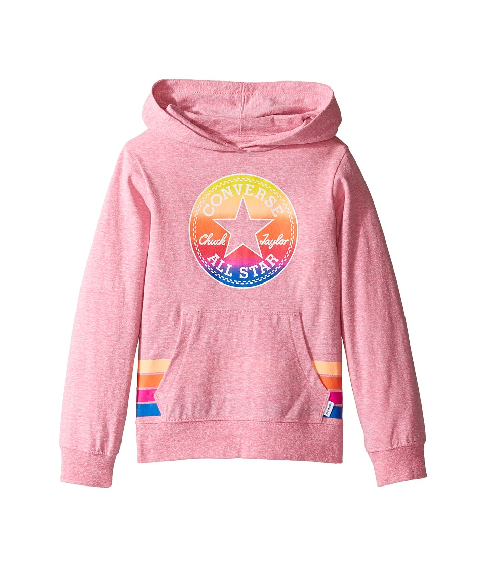 Converse Kids - Sunset Hoodie (Toddler/Little Kids) (Neo Pink Snow Heather) Girl's Sweatshirt