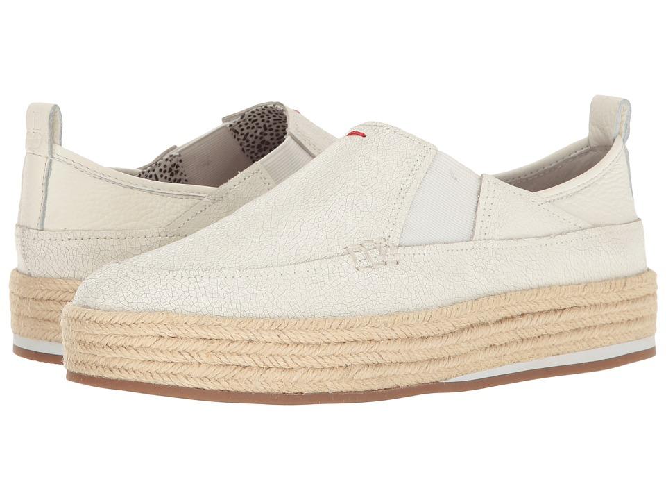 ED Ellen DeGeneres - Garance (White Leather) Women's Lace up casual Shoes