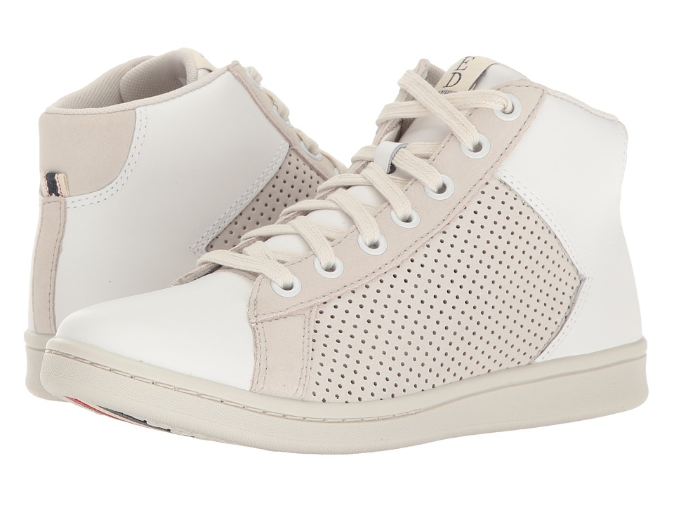 ED Ellen DeGeneres - Camarilo2 (Pure White Leather/Suede) Women's Lace up casual Shoes
