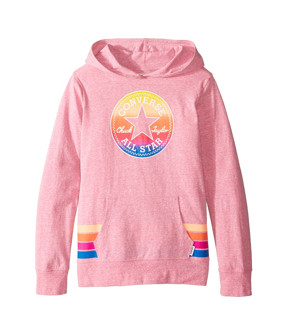 Converse Kids - Sunset Hoodie (Big Kids) (Neo Pink Snow Heather) Girl's Sweatshirt
