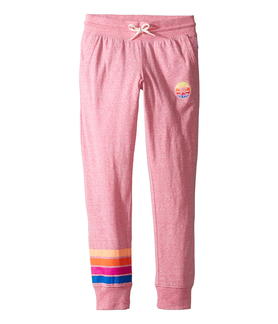 Converse Kids - Sunset Jogger (Big Kids) (Neo Pink Snow Heather) Girl's Casual Pants