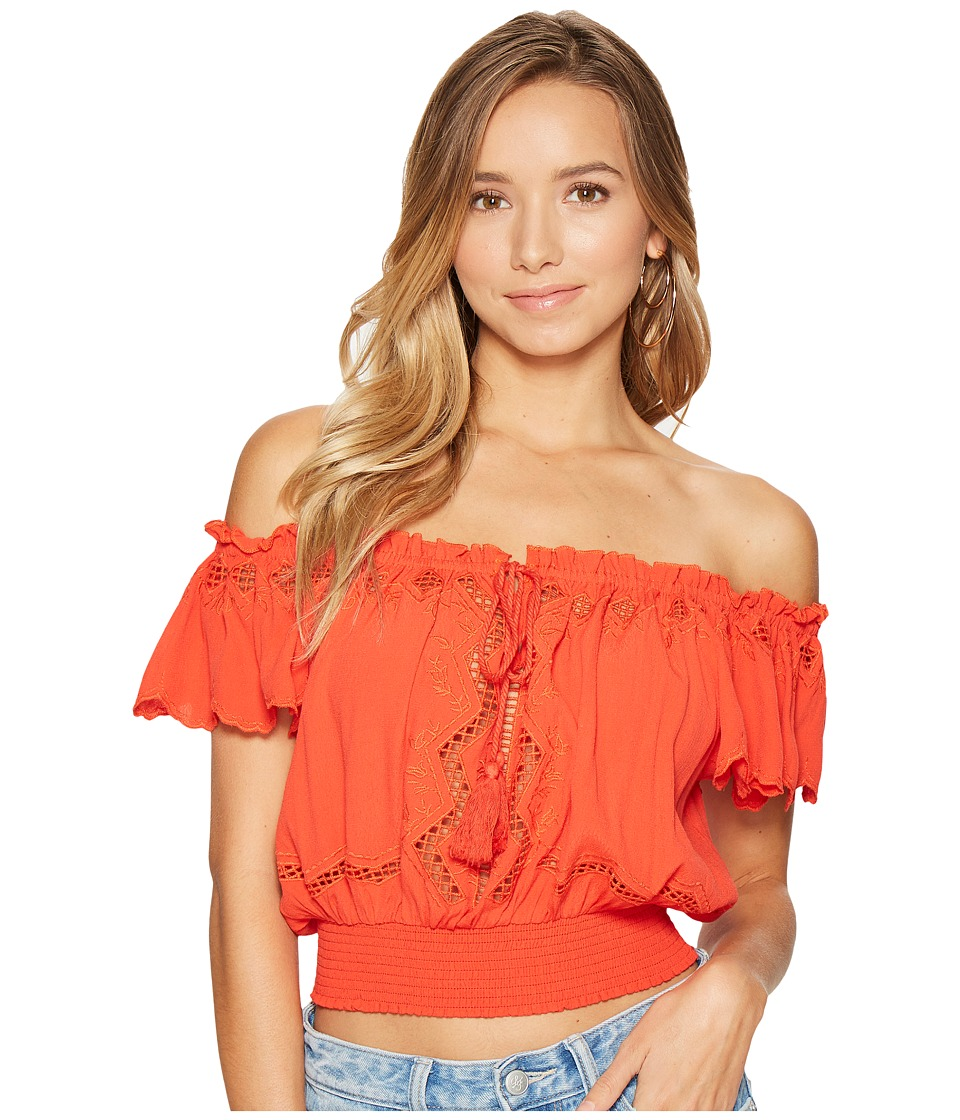 ASTR the Label - Reyna Top (Hot Red) Women's Clothing