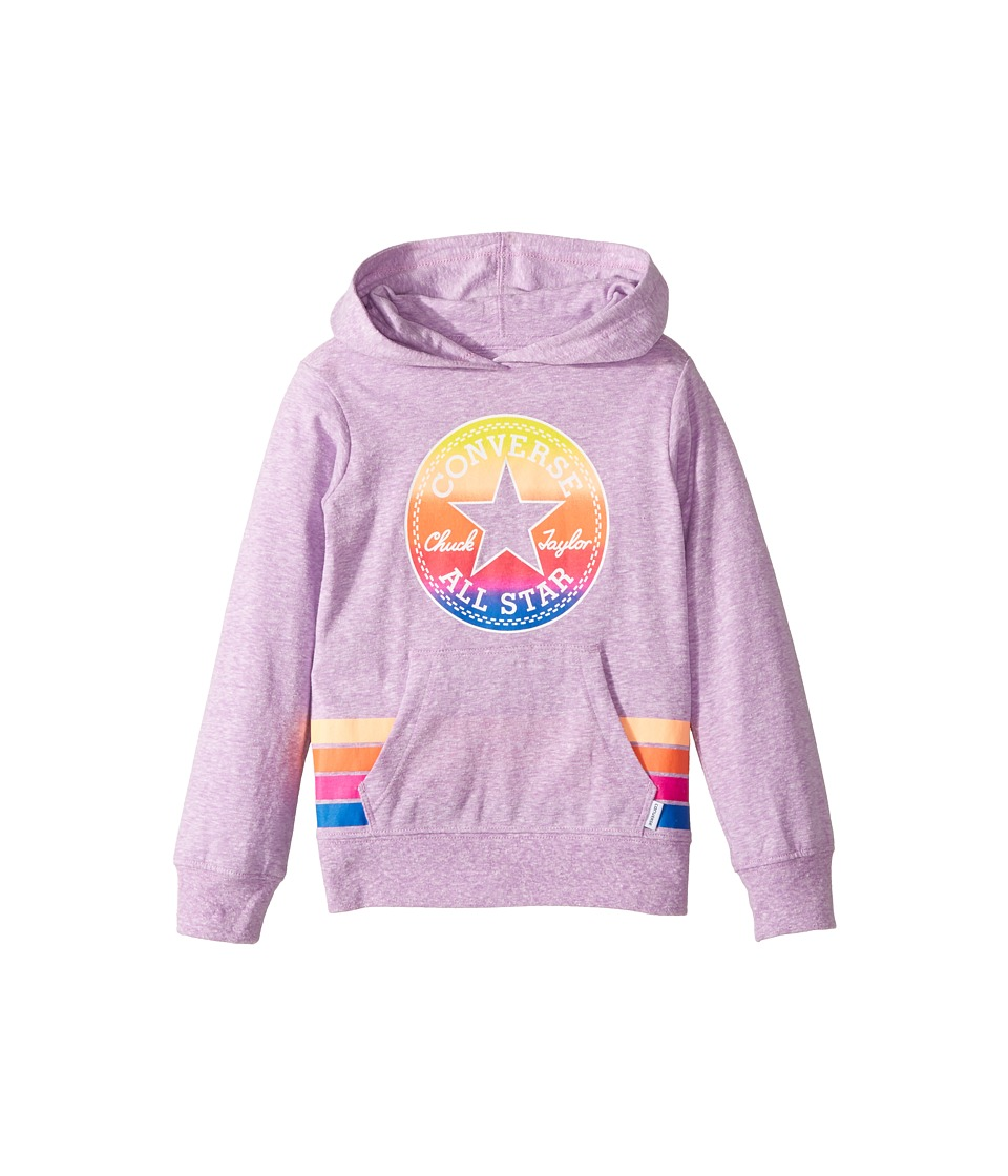 Converse Kids - Sunset Hoodie (Toddler/Little Kids) (Fuchsia Glow Snow Heather) Girl's Sweatshirt