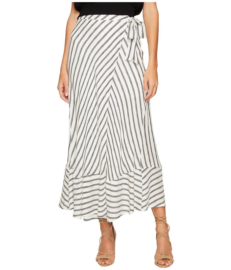 ASTR the Label - Hilda Skirt (White/Black Stripe) Women's Skirt