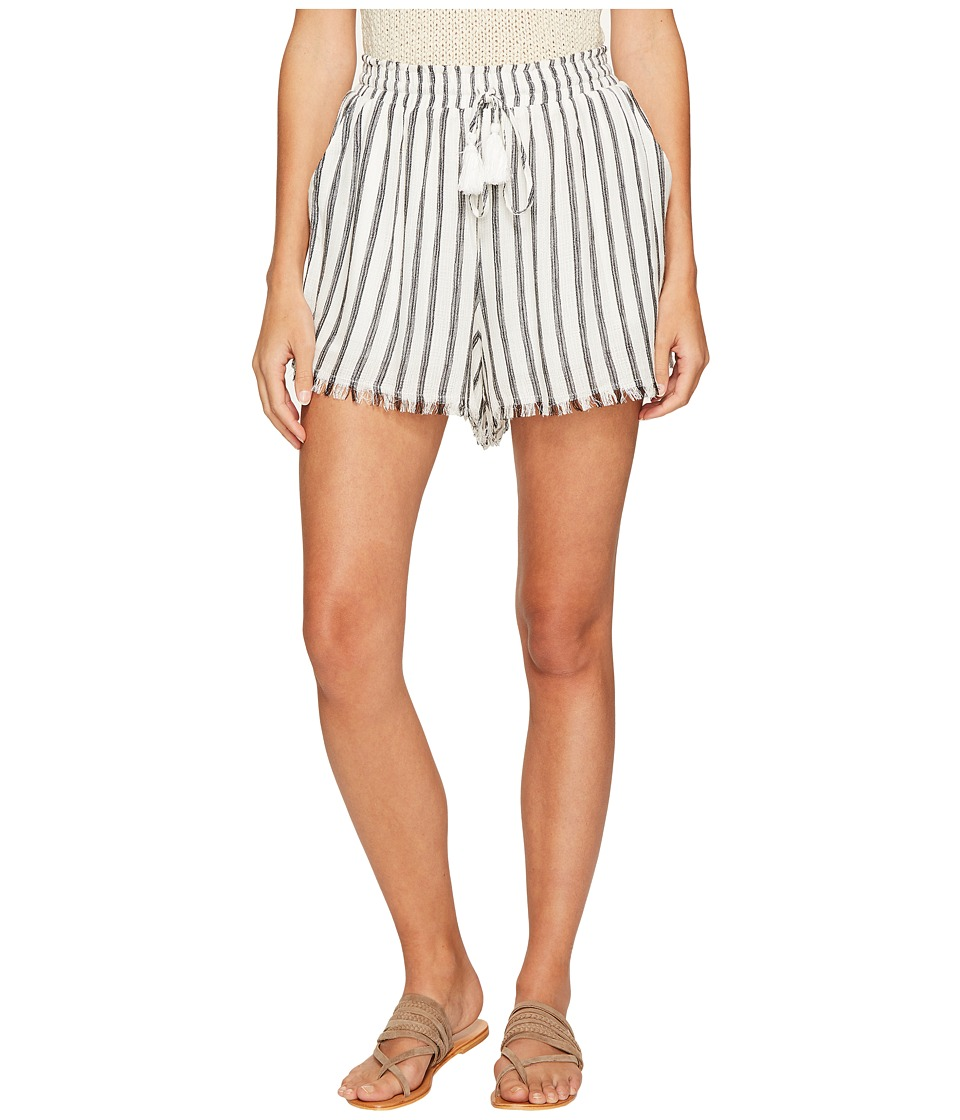 ASTR the Label - Lupe Shorts (White/Black Stripe) Women's Shorts
