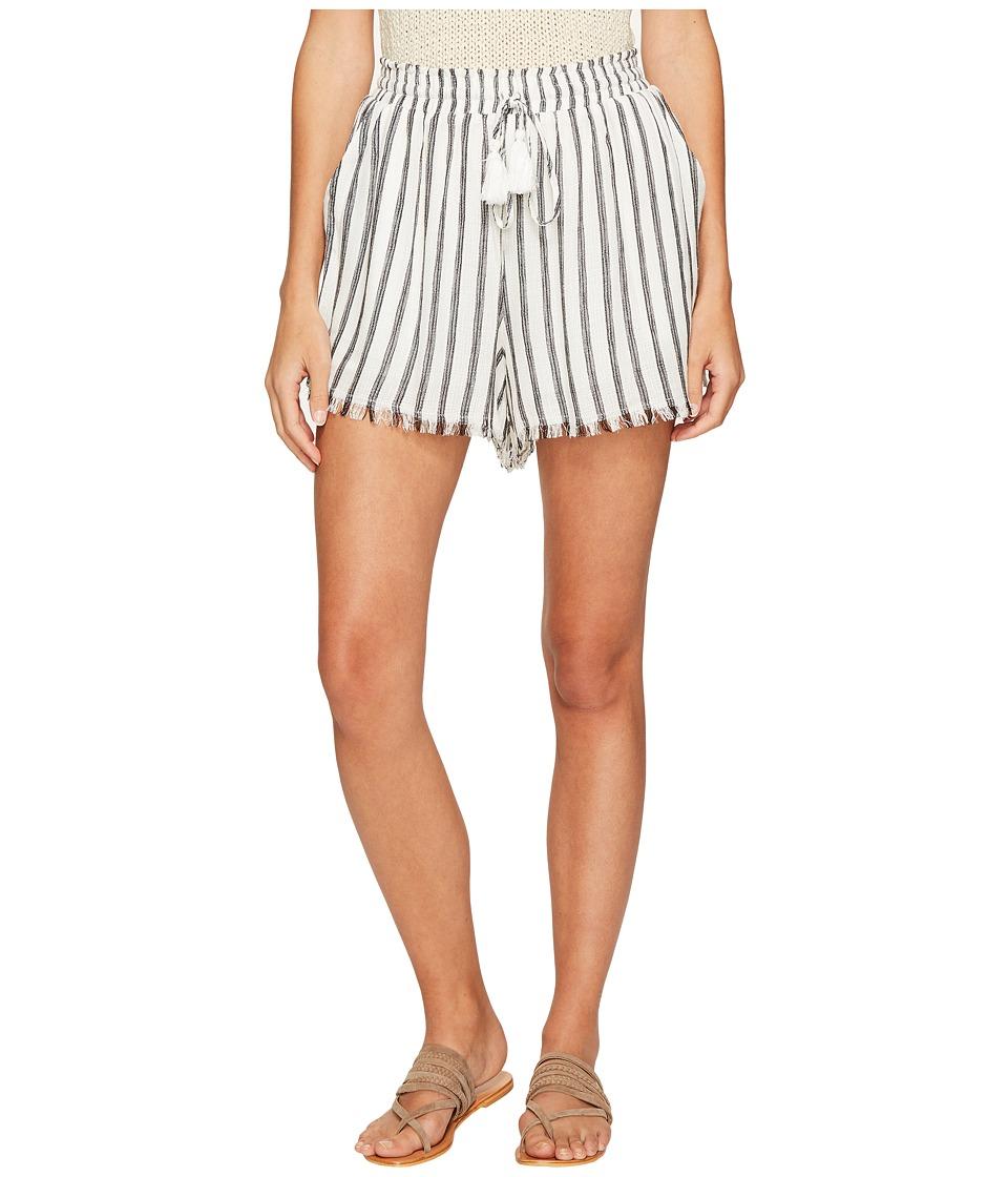 ASTR the Label - Lupe Shorts (White/Black Stripe) Women's Shorts