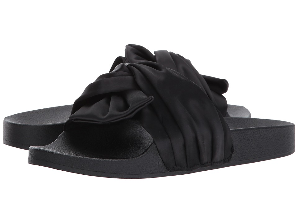 Steve Madden - Slate (Black Satin) Women's Shoes