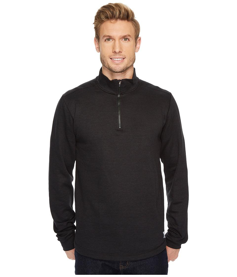 Carhartt Tilden Long Sleeve Mock Neck 1/4 Zip (Black) Men