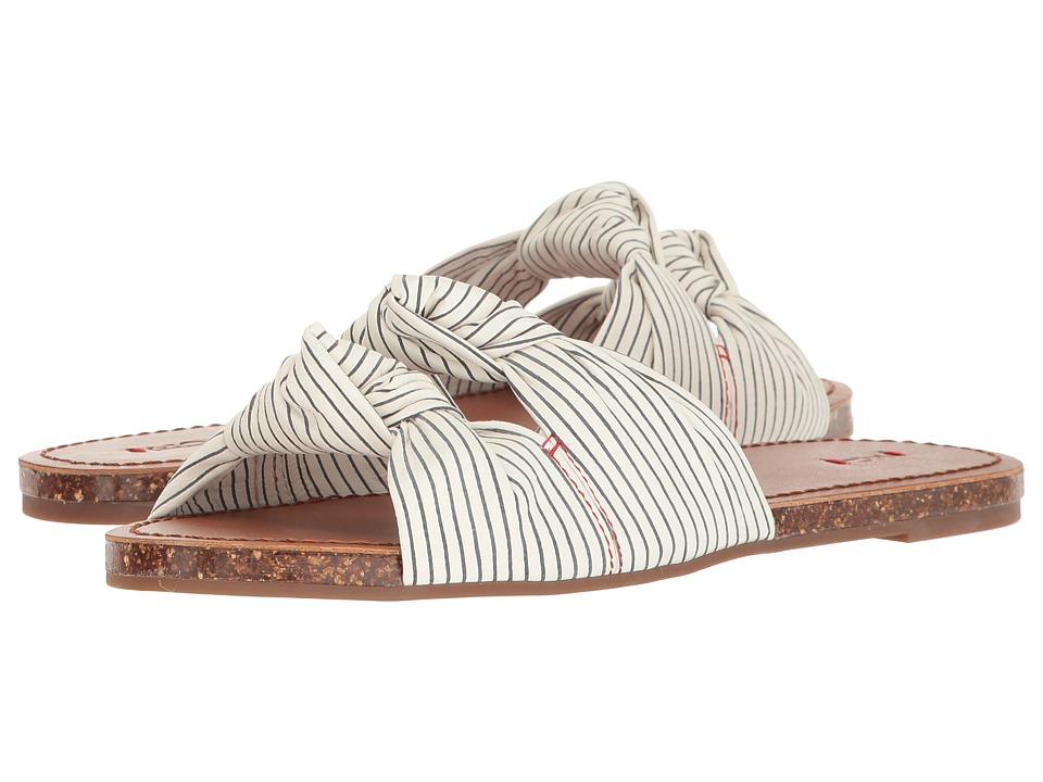 ED Ellen DeGeneres - Shiri (White/Black Stripe Leather) Women's Lace up casual Shoes