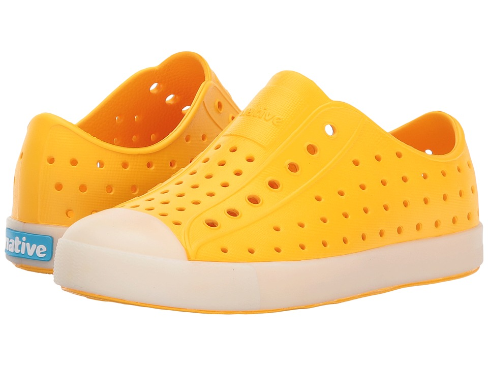 Native Kids Shoes - Jefferson Glow (Little Kid) (Dart Yellow Glow) Kid's Shoes