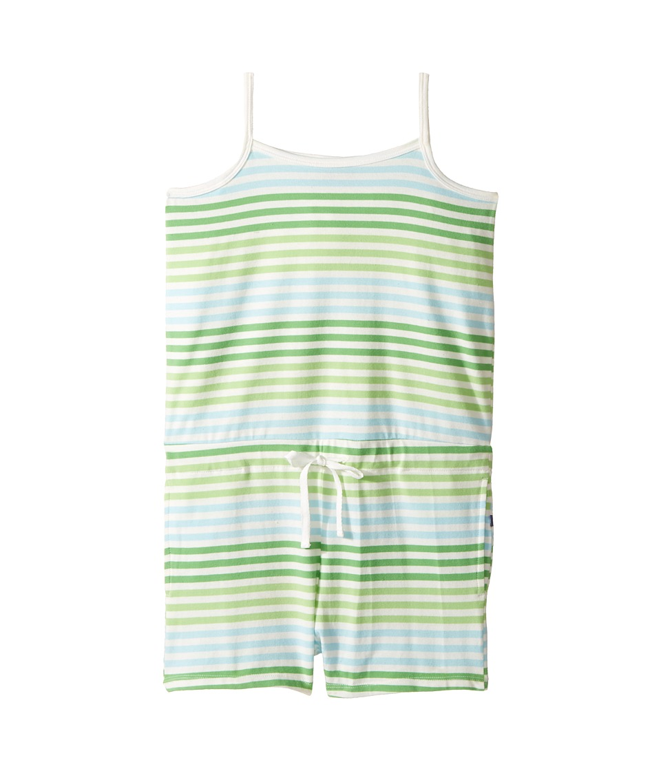 Toobydoo - Beach Romper (Toddler/Little Kids/Big Kids) (Green/Blue/White) Girl's Jumpsuit & Rompers One Piece